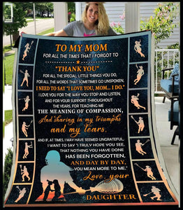 Blanket - Lacrosse - To My Mom - Thank You (Daughter) - yenyenstore