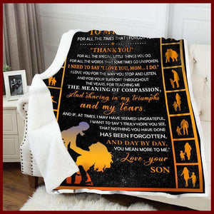 Blanket -  To My Mom - Thank You - yenyenstore