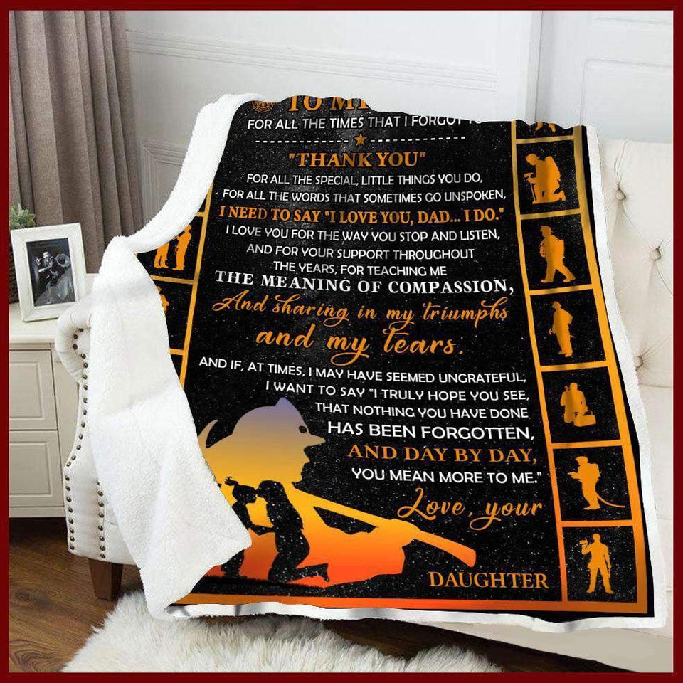 Blanket - Firefighter -  To My Mom - Thank You (Daughter) - yenyenstore