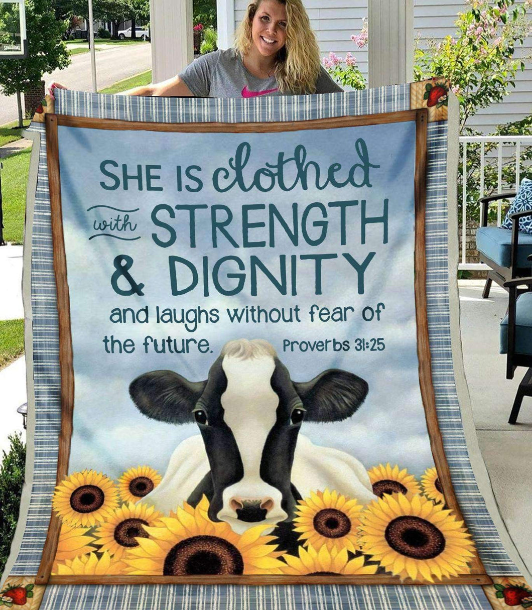 BLANKET - Cow - She Is Clothed - yenyenstore