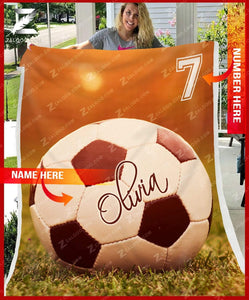 Custom Fleece Blanket - SOCCER