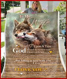 BLANKET WOLF To my Wife God Blessed The Broken Road Ver1 - Zalooo.com Custom Wall Art Canvas