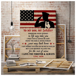 CANVAS - Army Son - Wherever your journey in life may take you - yenyenstore