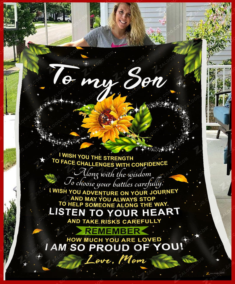 Fleece Blanket - SON (Mom) - I wish you the Strength