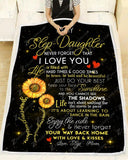 BLANKET STEP DAUGHTER (Step Mom) My only Sunshine - Zalooo.com Custom Wall Art Canvas