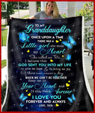 BLANKET BUTTERFLY Granddaughter (Tata) Once Upon A Time - Zalooo.com Custom Wall Art Canvas