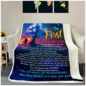 Fleece Blanket -The First Grandchild - yenyenstore