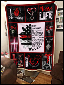 Blanket Nurse They whisper - Zalooo.com Custom Wall Art Canvas