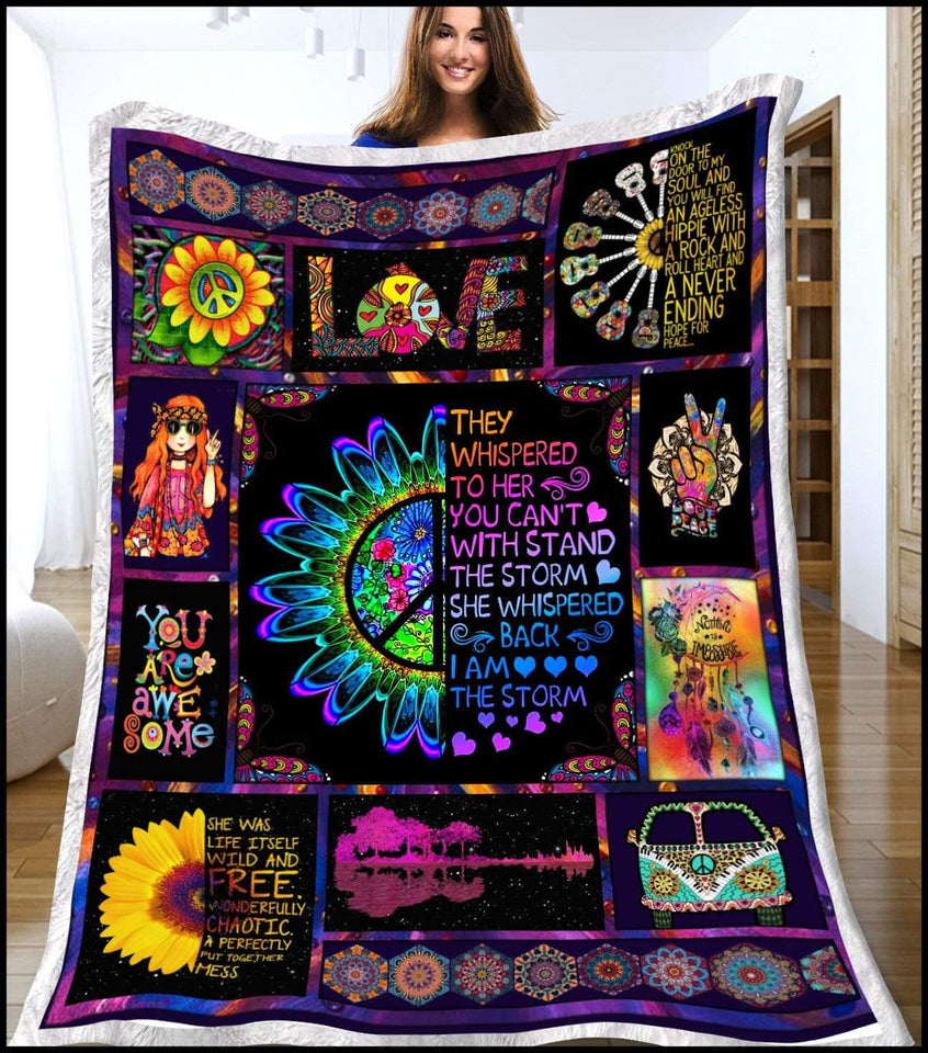 Blanket Hippie They whisper to her - Zalooo.com Custom Wall Art Canvas