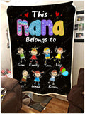 PERSONALIZED BLANKET - This Nana belongs to - yenyenstore