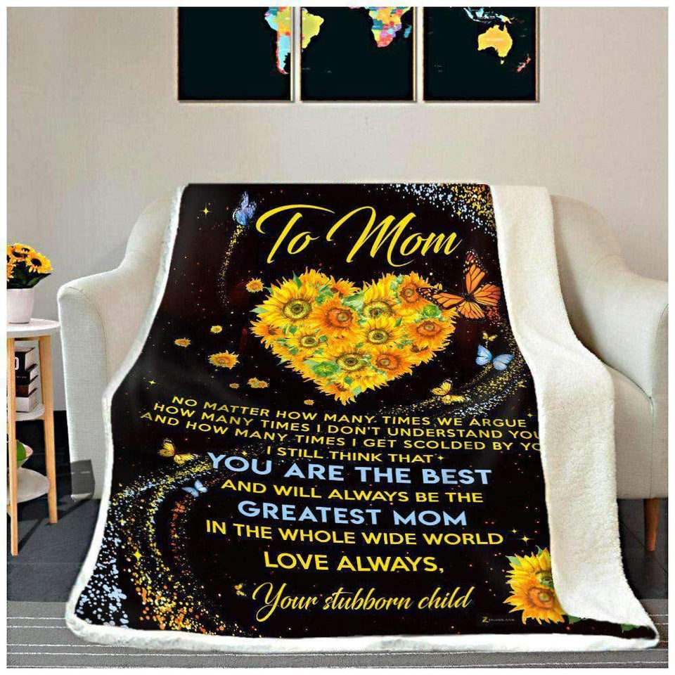 BLANKET - To Mom - You are the best - yenyenstore