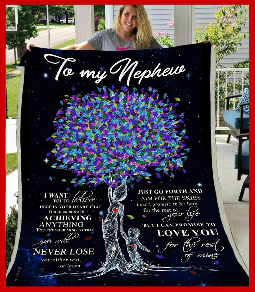 BLANKET - Nephew - Love you for the rest of mine (Aunt) - yenyenstore