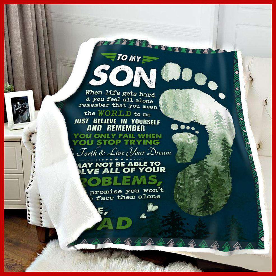 BLANKET - To my son - When Life gets hard - yenyenstore