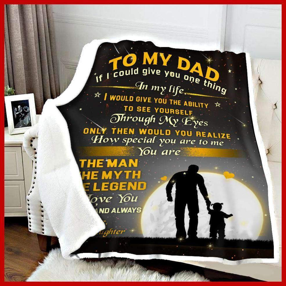BLANKET - Dad - The Man The Myth The Legend (Yellow) - yenyenstore