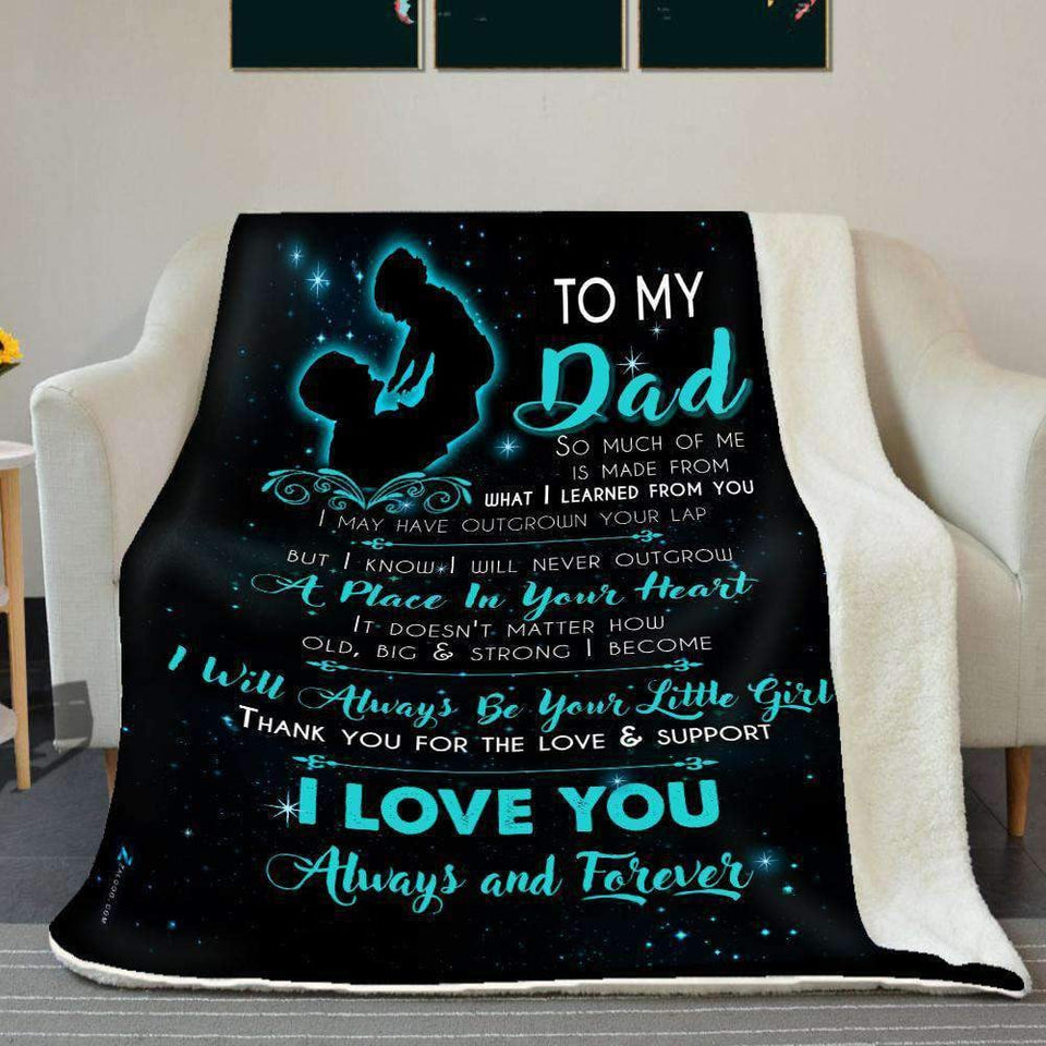 BLANKET - To my Dad - I will always be your little girl - yenyenstore
