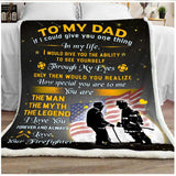 PP - BLANKET - Firefighter - Dad - The Man The Myth The Legend - yenyenstore