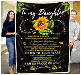 Fleece Blanket - To My Daughter - I wish you the Strength - yenyenstore
