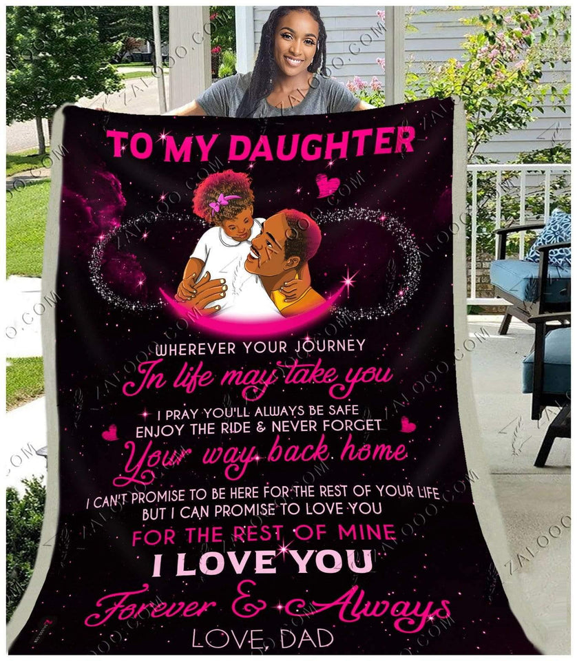BLANKET - BLACK - Daughter (Dad) - Wherever your journey in life may take you