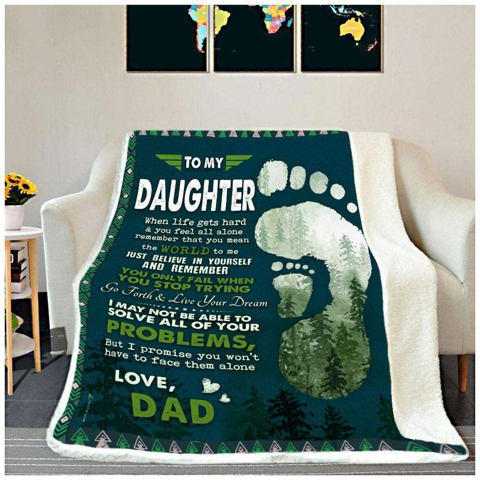 BLANKET - To my Daughter (Dad) - When Life gets hard - yenyenstore