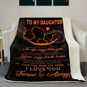 BLANKET - Daughter (Orange) - Wherever your journey in life may take you - yenyenstore