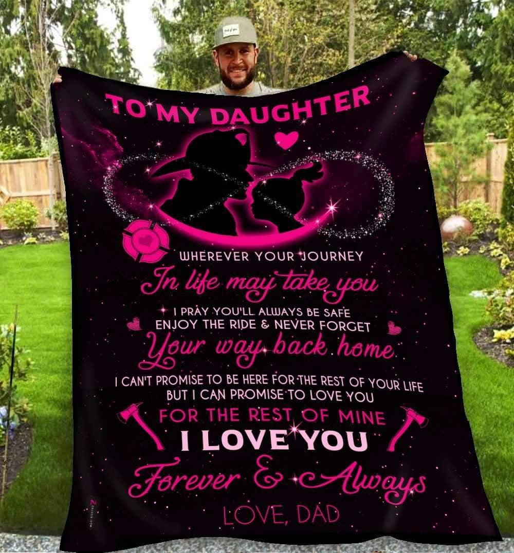 BLANKET - FIREFIGHTER - Wherever your journey in life may take you (Daughter) - yenyenstore