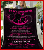 BLANKET - Daughter (Dad) - Wherever your journey in life may take you - yenyenstore
