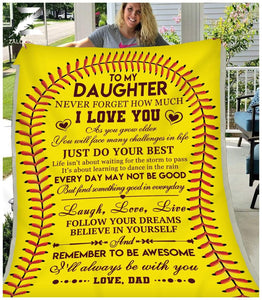 Blanket - Softball - Remember to be awesome