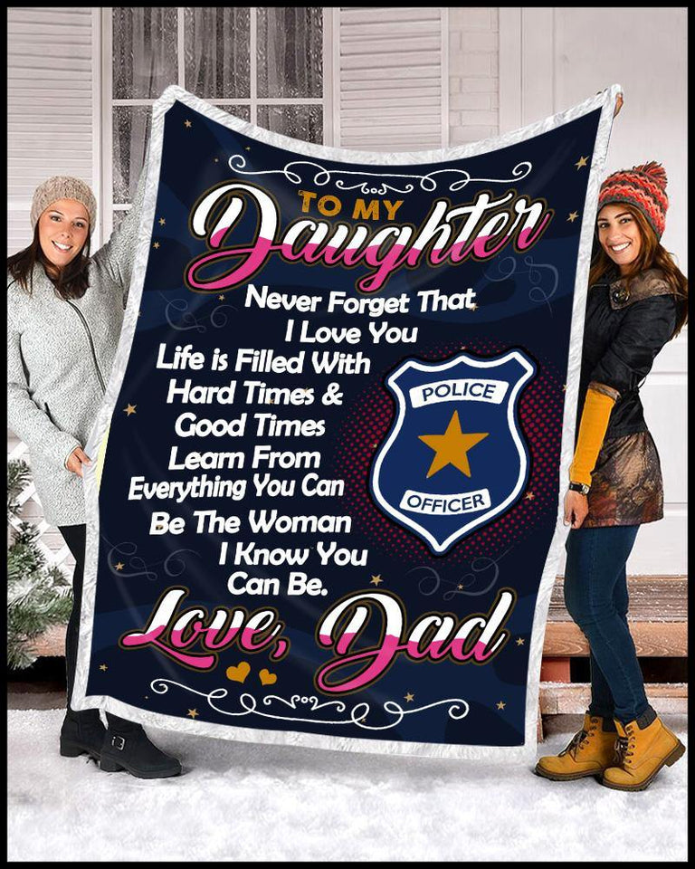 Blanket Police To my daughter Be the woman - Zalooo.com Custom Wall Art Canvas