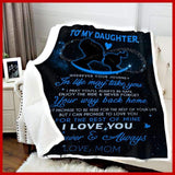 BLANKET - Daughter (blue) - Wherever your journey in life may take you - yenyenstore
