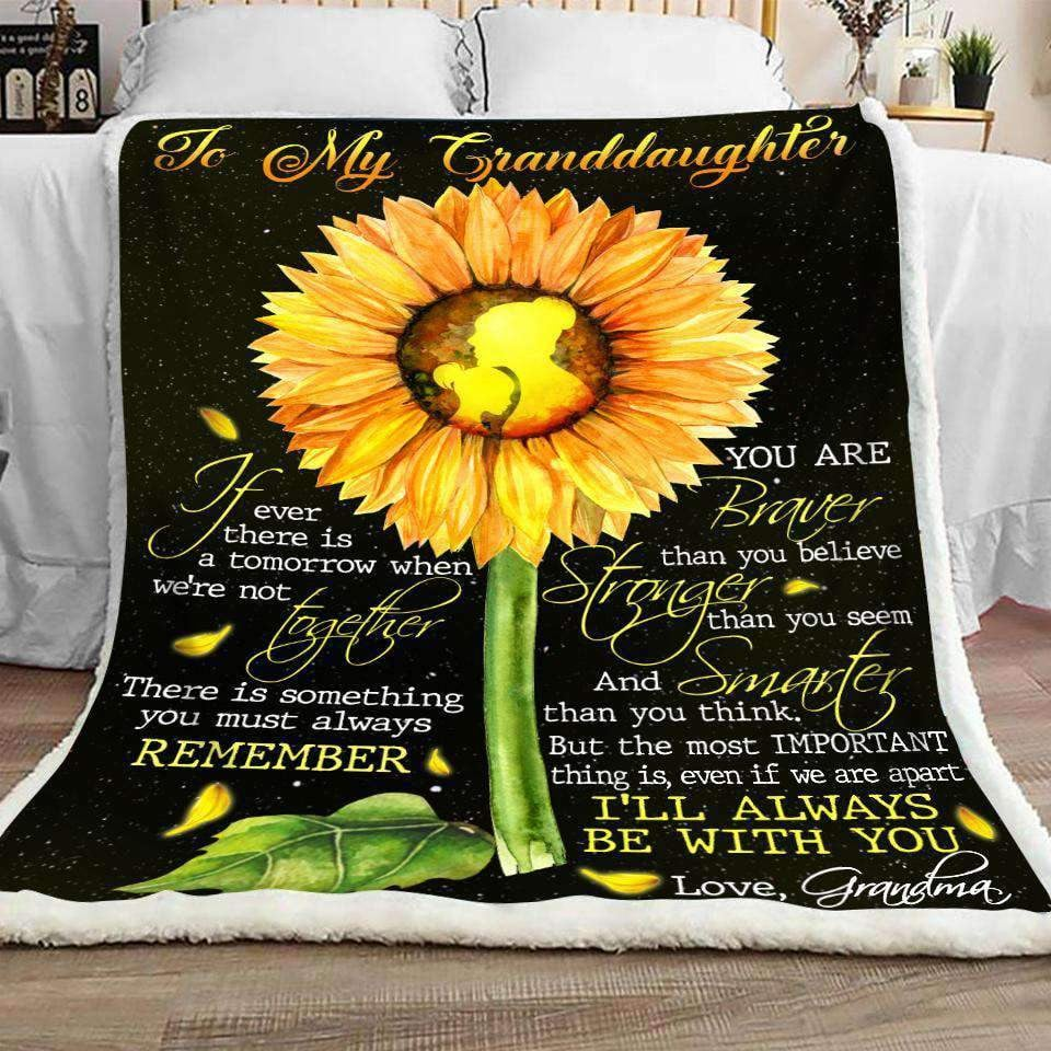 BLANKET - Family - To My Grandddaughter - yenyenstore