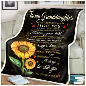 BLANKET - Granddaughter - I'll always be with you - yenyenstore