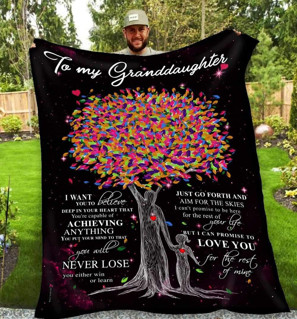 BLANKET - Granddaughter - Love you for rest of mine (Grandpa) - yenyenstore