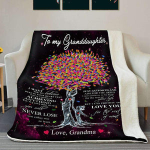BLANKET - Granddaughter - Love you for the rest of mine (Grandma) - yenyenstore