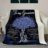 BLANKET - Grandson - Love you for the rest of mine (Grandma) - yenyenstore