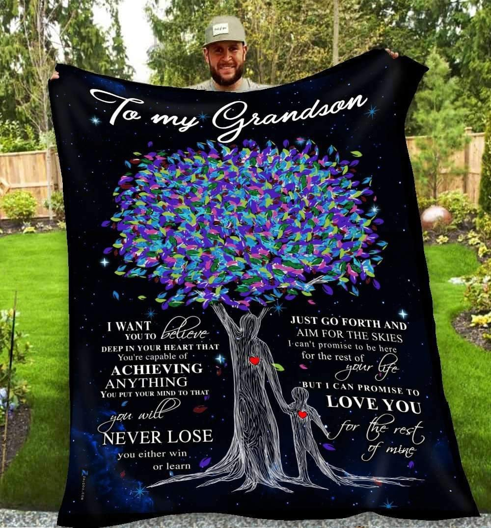 BLANKET - Grandson - Love you for the rest of mine (Grandpa) - yenyenstore