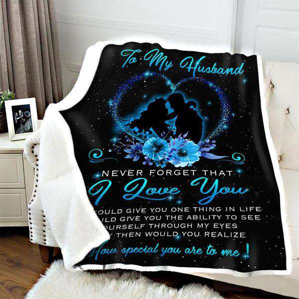 Fleece Blanket - To my Husband - How special you are to me - yenyenstore