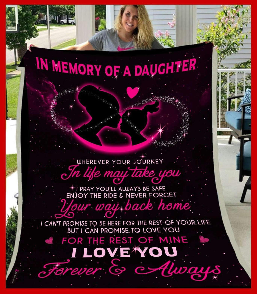 BLANKET - In memory of a daughter - Wherever your journey in life may take you - yenyenstore