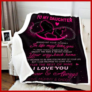 BLANKET - Daughter (Mummy,Daddy) - Wherever your journey in life may take you - yenyenstore