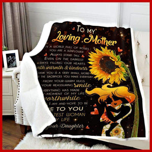 BLANKET - Loving Mother - The Greatest woman in my life  (Daughter) - yenyenstore