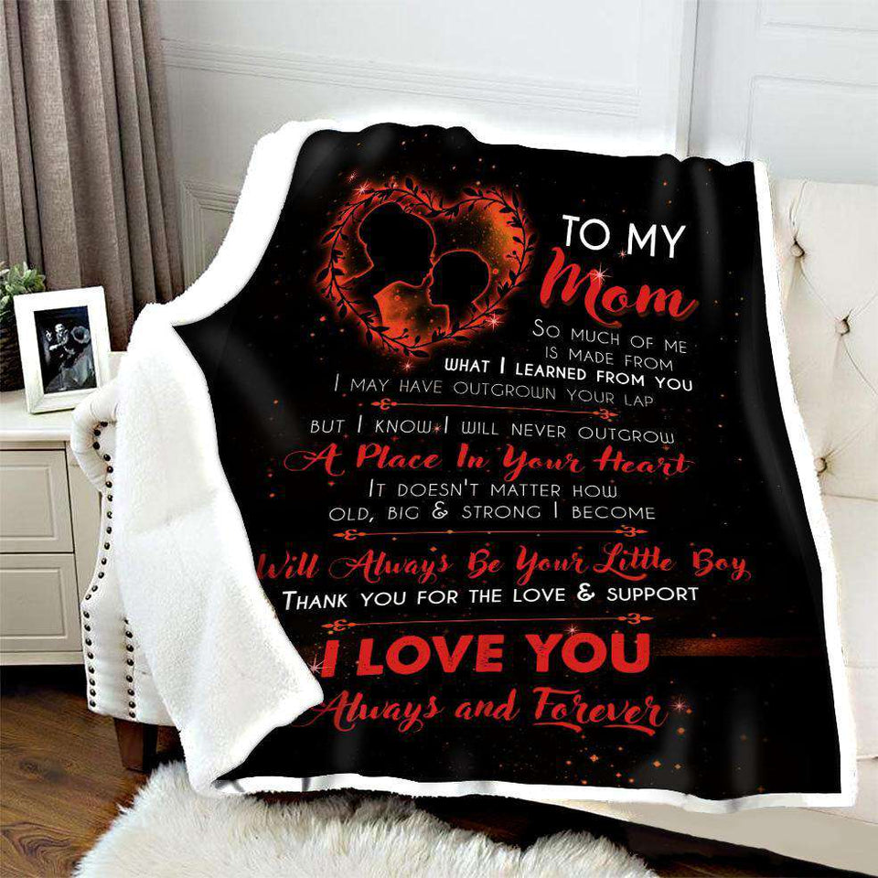 BLANKET - To my Mom - I will always be your little boy (Orange) - yenyenstore