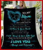 BLANKET - To my mom - I will always be your little girl (Teal) - yenyenstore
