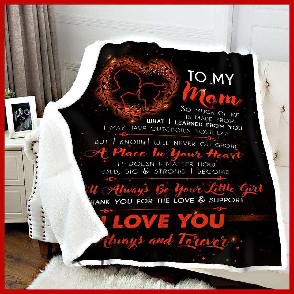 BLANKET - To my mom - I will always be your little girl (Orange) - yenyenstore