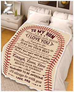 Blanket - Baseball - Remember to be awesome