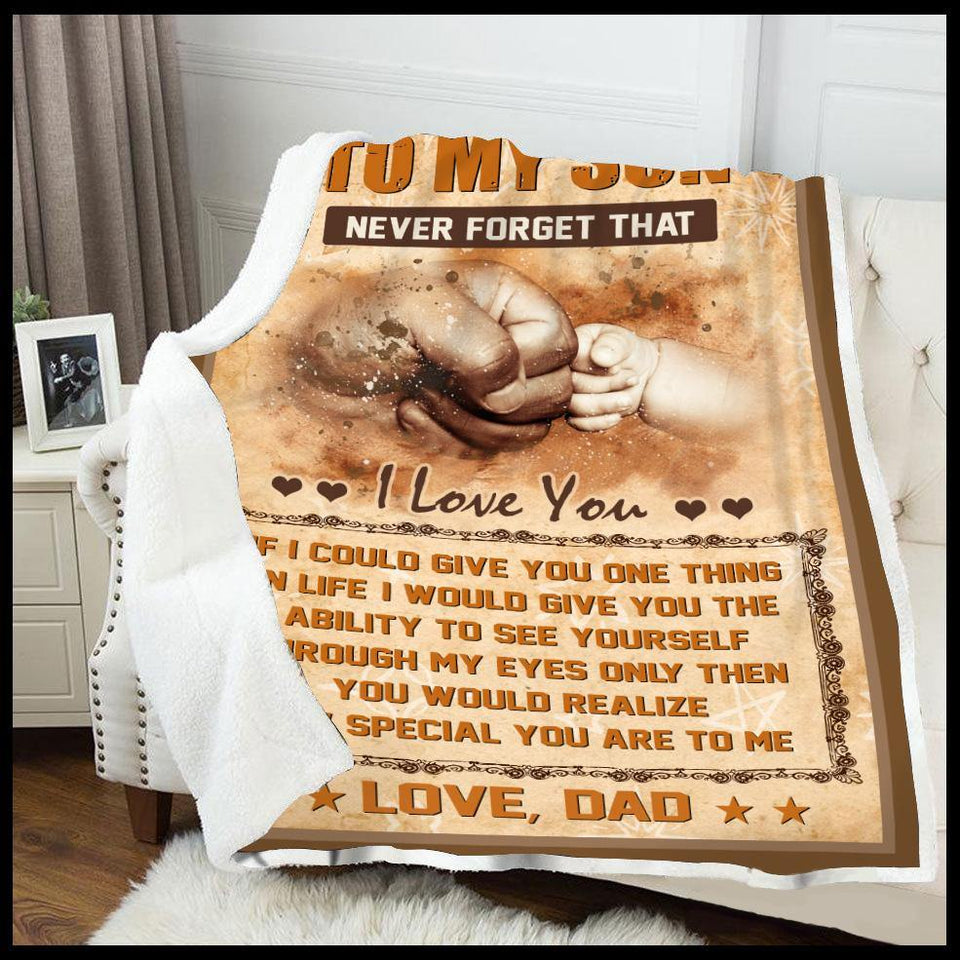 Blanket To my son If I could give you one thing - Zalooo.com Custom Wall Art Canvas