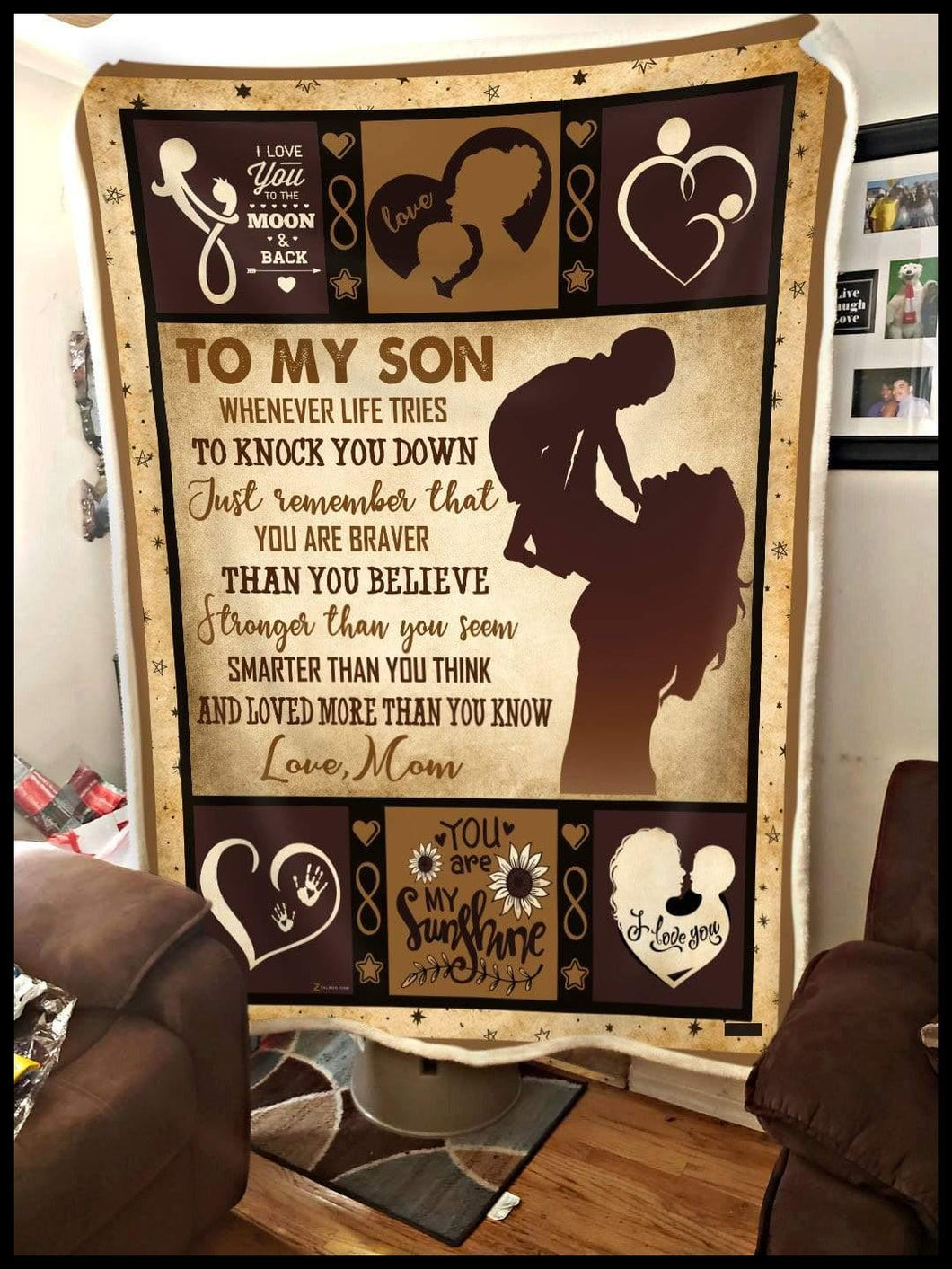 Blanket To my Son You're love more than you know