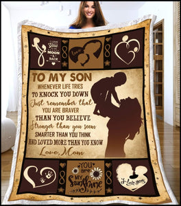 Blanket To my Son You're love more than you know - Zalooo.com Custom Wall Art Canvas