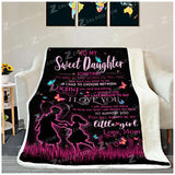 Fleece Blanket - MY SWEET DAUGHTER - Sometimes (Pink) - yenyenstore