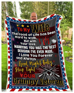 Blanket - Veteran - To my wife - I fly