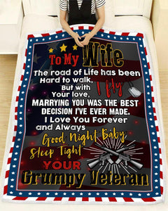 Blanket Veteran To my wife I fly - Zalooo.com Custom Wall Art Canvas