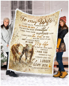 BLANKET COW To my Wife I Choose Both